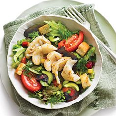 Greek Salsa Salad with Grouper | 15 Minutes | SouthernLiving.com