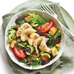 Greek Salsa Salad with Grouper | 15 Minutes | SouthernLiving.com