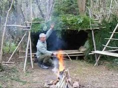 ▶ bushcraft survival long term wilderness shelter 7 of 7 heating the shelter.wmv - YouTube