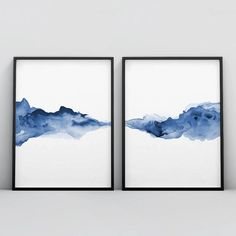 Blue Abstract, Abstract Watercolor, Abstract Print, Watercolor Paintings, Water Color Abstract, Abstract Paintings, Abstract Landscape, Oil Paintings, Painting Art