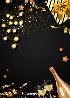 Background Of Gift Box Champagne Black Gold Party Background of Gift Box Champagne Black Gold Party Golden Background, Party Background, Birthday Background, Background Images, Background Search, Christmas Gift Background, Christmas Gift Box, Gold Christmas, Champagne Balloons