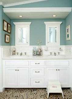 Five Steps To Design Your Bathroom, Adore Your Place - Interior Design Blog ....I like the idea of the enclose 2 sink counter with that left wall covering the toilet area...