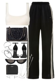 """""""Untitled #757"""" by theradmoons ❤ liked on Polyvore featuring Morgan Lane, Yeezy by Kanye West, Yves Saint Laurent, Zara, Monica Vinader, Forever 21, PAWAKA and Humble Chic"""