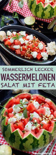Wassermelonensalat mit Feta - schnell und einfach - emmikochteinfach