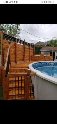 Swimming Pool Landscaping, Swimming Pools Backyard, Best Above Ground Pool, In Ground Pools, Pool Deck Plans, Above Ground Pool Landscaping, Pool Steps, Diy Pool, Cool Pools