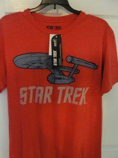 b7c0aa7ad28 Star Trek Enterprise Spaceship T Shirt M and L New