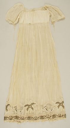 This is a dress dated 1810-1814, Met.  This dress is a good example of only the bodice having a lining, which you would not need to have a bodiced petticoat for.  You could wear one very similar to the beautiful extant one posted on this board.