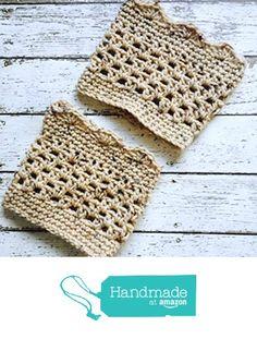 Beige Fleck Boot Cuffs Crochet Legwarmers Short Calf Warmers Handmade https://www.amazon.com/dp/B01J92Q2KQ/ref=hnd_sw_r_pi_dp_p6OMxbMQ04TX3 #handmadeatamazon