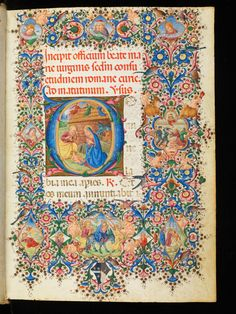 ountry of Location: Switzerland Location: Genève Library / Collection: Bibliothèque de Genève Settlement, shelfmark: Comites Latentes 54 Manuscript Title: Book of hours Medieval Manuscript, Illuminated Manuscript, Illuminated Letters, Mosaic Books, Precious Book, Birth Of Jesus, Book Of Hours, Christmas Scenes, Middle Ages