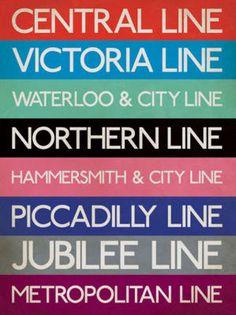 London Underground lines...aka The Tube