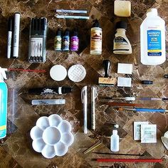 Supplies for Alcohol Ink Painting