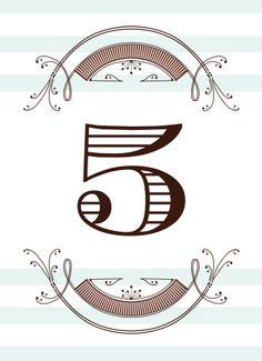 Elegant Nouveau Table Numbers - Hoopla House