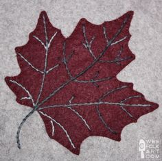 Maple Leaf Applique Block | Wee Folk Art