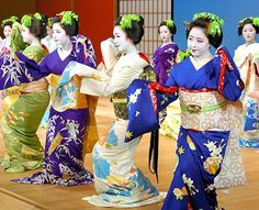 Annual geisha dance performance under way in Kyoto: Japan's ancient capital is alive with colorful pageantry as geisha and maiko (apprentice geisha) from the five main districts begin their annual summer dance performance at Minami-za theater.