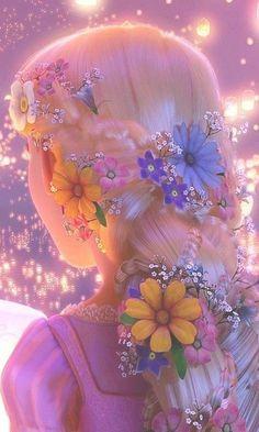 Walt Disney Princess Rapunzel hair from the movie Tangled Disney Rapunzel, Rapunzel Flynn, Film Disney, Disney Magic, Disney Art, Rapunzel Braid, Tangled Flynn, Disney Princesses, Disney Icons