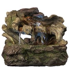 Bonsai Led Beleuchtung | Hollowed Log Tabletop Water Fountain W Led Light By Sunnydaze