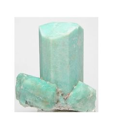 Amazonite Crystal Cluster Bright Aqua Blue  by FenderMinerals