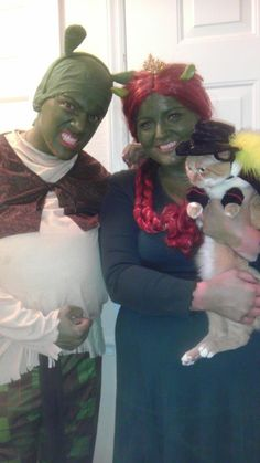 Shrek, Princess Fiona, and Puss In Boots Halloween Costumes!