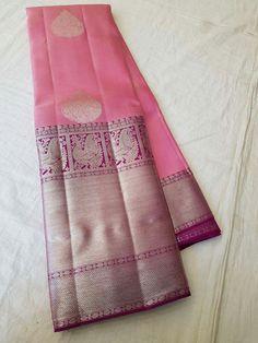 Kanjipuram Saree, Saree Dress, Kanakavalli Sarees, Saris, Kanjivaram Sarees Silk, Indian Silk Sarees, Bridal Silk Saree, Organza Saree, Baby Pink Saree