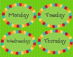 Caffeinated Conclusions: FRIDAY FREEBIE: Free Days of the Week labels!