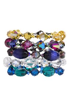 2nd or 3rd ones down...  Dabby Reid Ltd. Semiprecious & Crystal Bracelet | Nordstrom