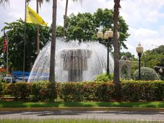 Mayaguez, Puerto Rico. My hometown...I remember driving past this many many times. I loved this fountain when I was little.