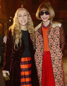 Anna (in Prada) and Franca Sozzani