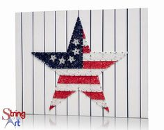 America is the greatest country in the world. And there is no better way you expressing it than stringing together this Stars and Stripes string art kit. Great gift idea for those crafters you know. O