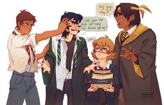 "nikadonna: ""harry potter au because reasons """