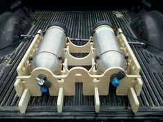 homemade truck rack | DIY Scuba Tank Rack - ScubaBoard Gallery
