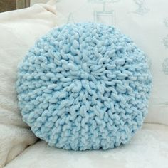 All of me: Craft me Happy!: Small round knitted pillow.