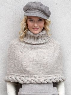 Cable Capelet | Yarn | Free Knitting Pattern - I usually don't like capelets (or turtlenecks) but for some reason the combination is working for me.  Looks like a well written pattern - want to try.