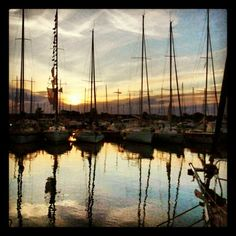 Tramonto sul porto di Torre Grande a #Oristano  #Sardegna   www.sardegna.com