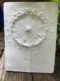 Allium seed head - decorative botanical tile, home decor, nature and garden lovers, perfect for home decor or as a gift for someone special Paris Crafts, Plaster Art, Plaster Crafts, Tuile, Decorative Tile, Decorative Paintings, 3d Wall Art, Clay Ornaments, Allium