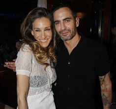 SJP and Marc Jacobs at the Louis Vuitton Autumn/Winter 2012 show in Paris, July 2012.