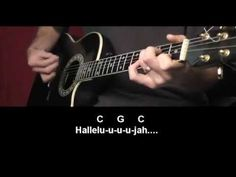 Leonard Cohen -  Hallelujah - Guitar Tutorial. Intro, chords, lyrics, and strum pattern shown for easy playing.