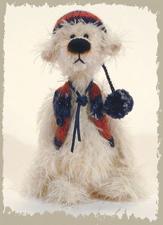 Teddy Bear Tarmin, Handmade artist bears by Jack & Marion, the Finhold Gallery, Germany / http://www.finhold.de