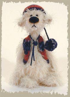Teddy Bear Tarmin, Handmade artist bears by Jack & Marion, the Finhold Gallery, Germany / http://www.finhold.de