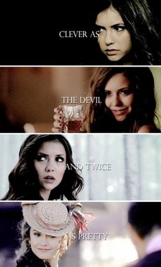 Katherine Pierce,the bitch is back and now she's queen of hell Vampire Diaries Wallpaper, Vampire Diaries Damon, Vampire Diaries Quotes, Vampire Diaries The Originals, Katherine Pierce, Damon Salvatore, The Vamps, Katharina Petrova, Tvd Quotes