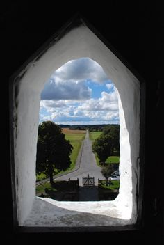 View from the round church in Østerlars, Bornholm
