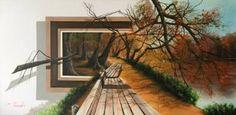 "Saatchi Art Artist Eka Peradze; Painting, ""3D Eka Peradze. 50x100."" #art"