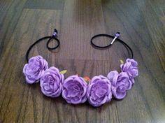 Purple Rose Flower Headband, Flower Crown, Flower Halo, Festival Wear, EDC, Coachella, Ezoo,Ultra Music Festival, Rave on Etsy, $20.00