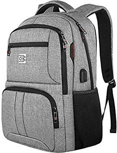 Laptop Backpack,Durable Anti Theft Business Travel Laptops Backpack for Men Women with USB Charging Port,Water Resistant College School Computer Bookbag for Students Fit Inch Laptops Notebooks Computer Backpack, Travel Backpack, College Bags, College School, School Computers, Men's Backpacks, Notebook Laptop, Business Travel, Computer Accessories