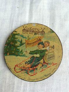 Vintage Pictorial Advertising Tin-Victory V 'For Cold Journeys' Litho,8x3 cm's. | eBay