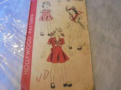 HOLLYWOOD SEWING PATTERN 894 Girls Princess Seam by AngieFoundit4U