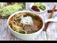 Van's Kitchen: Bun Bo Hue, Vietnamese spicy beef noodle soup