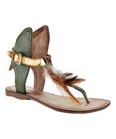 Green Sadie Sandal