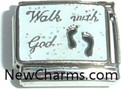 Walk With God Italian Charm Bracelet Jewelry Link New Charms. $1.99. High quality Italian Charm.. Combine with other Italian Charms to show your style.. Compatible with all major brands of Italian Charms.. Standard 9mm size.