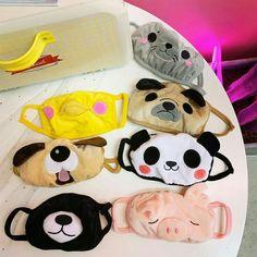 Mask - New ideas Panda Dog, Cute Panda, Dog Cat, Panda Mignon, Panda Lindo, Sewing Crafts, Sewing Projects, Mouth Mask Fashion, Cat Mask