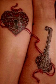Lock key tattoo